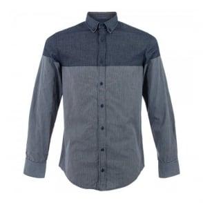 Hugo Boss Orange Edipoe Navy Stripe Shirt 50270490