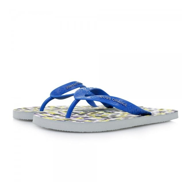 Hugo Boss Orange Footwear Hugo Boss Orange Losti Open Blue Flip Flops 50286134