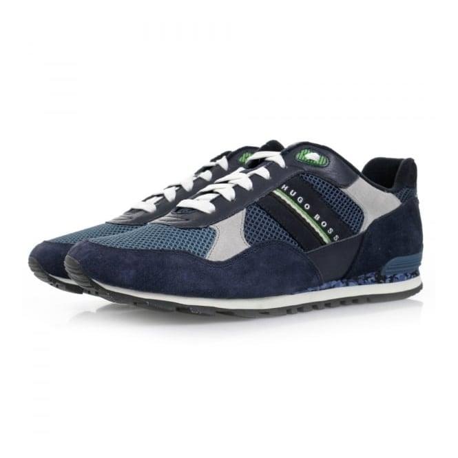 Hugo Boss Green Footwear Hugo Boss Runcool Camo Medium Blue Shoes 50311636