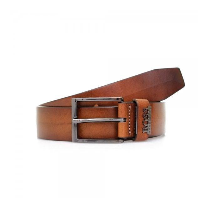 Hugo Boss Black Accessories Hugo Boss Senol Medium Brown Leather Belt 50281069