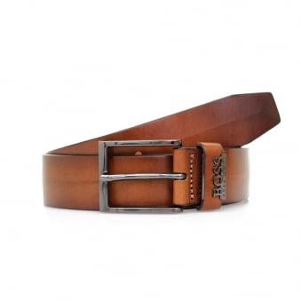 Hugo Boss Senol Medium Brown Leather Belt 50281069