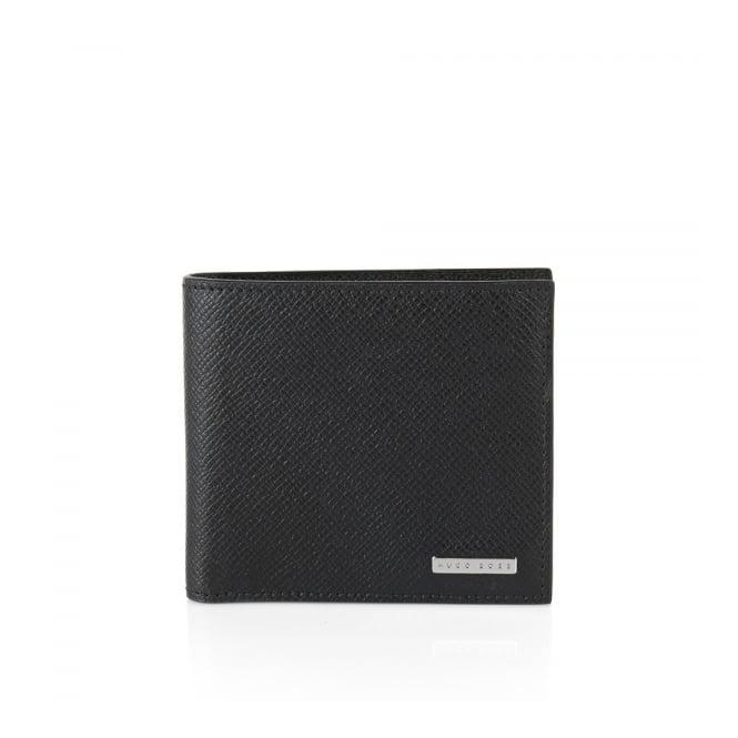 Hugo Boss Black Accessories Hugo Boss Signature_4 CC Coin Black Leather Wallet 50311738