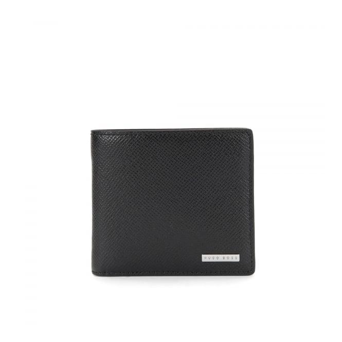 Hugo Boss Black Accessories Hugo Boss Signature_8 CC Black Leather Wallet 50811737