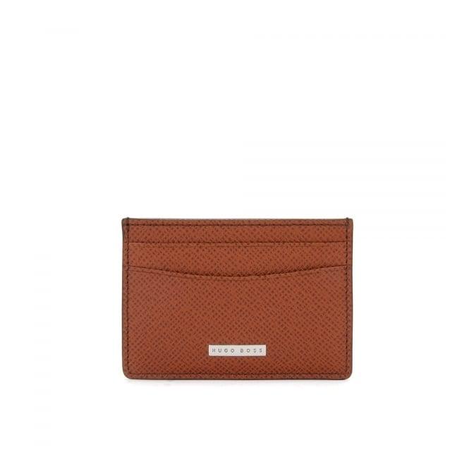 Hugo Boss Black Accessories Hugo Boss Signature_S Light Brown Leather Card Case 50311746