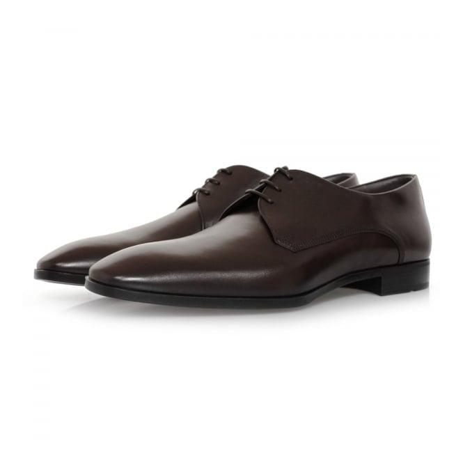 Hugo Boss Black Footwear Hugo Boss Urbat Dark Brown Leather Shoe 50298455