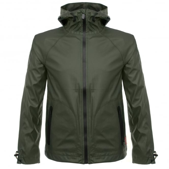 Hunter Original Rubberised Dark Olive Windcheater URO4018BAO