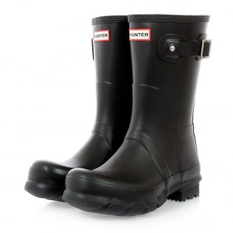 Hunter Original Short Black Wellington Boot MFS9000RMA