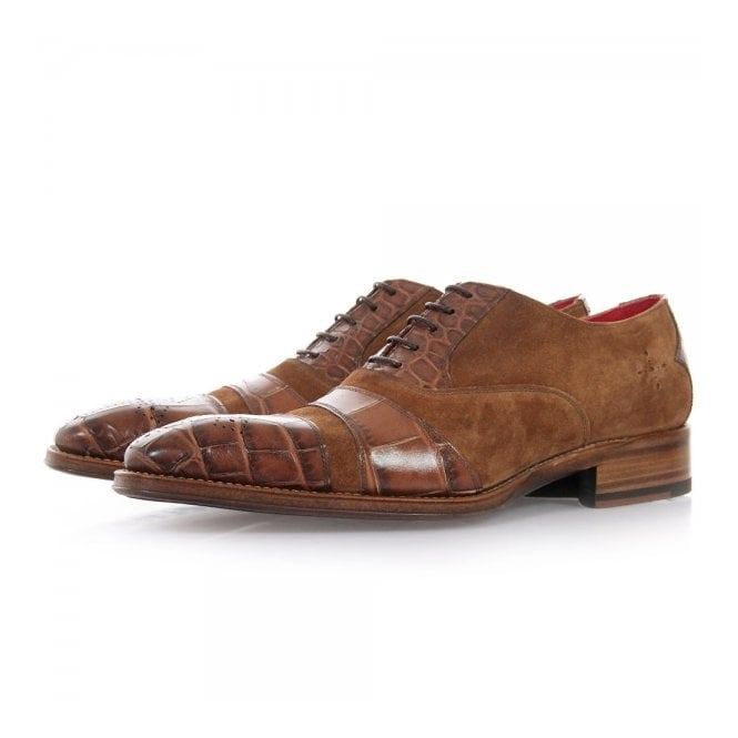 Jeffery West Melrose Oxford Tan Suede Shoes 13860