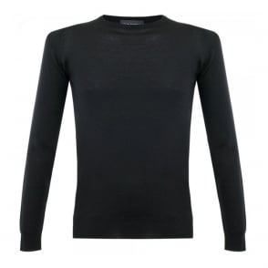 John Smedley Cleves Black Pullover M13