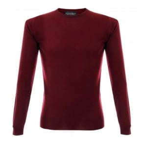 John Smedley Cleves Bordeaux Pullover 5037510178528