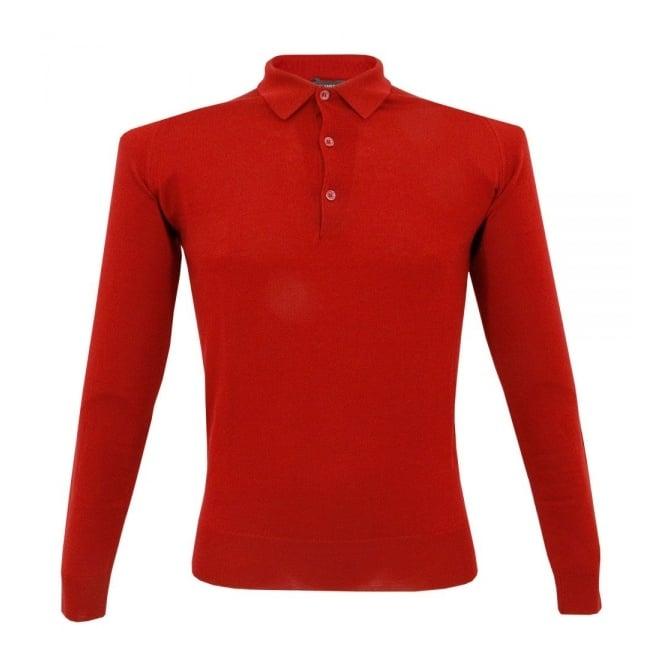ba50d1677fd6 John Smedley Tyburn Sport Collar Apple Red Polo Shirt M18