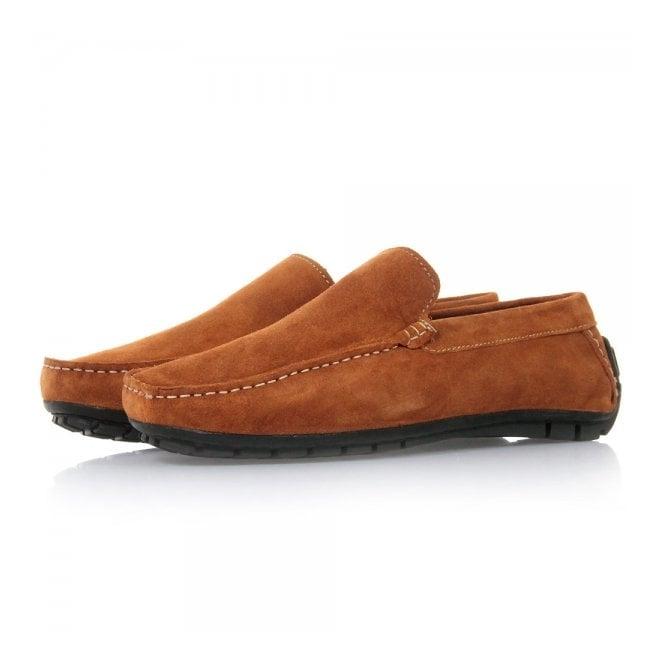 John White Shoes John White Cosmo 2 Orange Suede Moccasins 36165