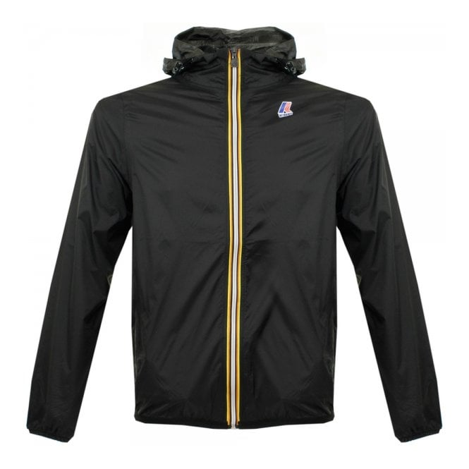 K-Way Claude Le Vrai 3.0 Black Pac-a-Mac Jacket K004BD0