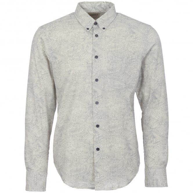 Naked and Famous Denim Kimono Waves Shirt