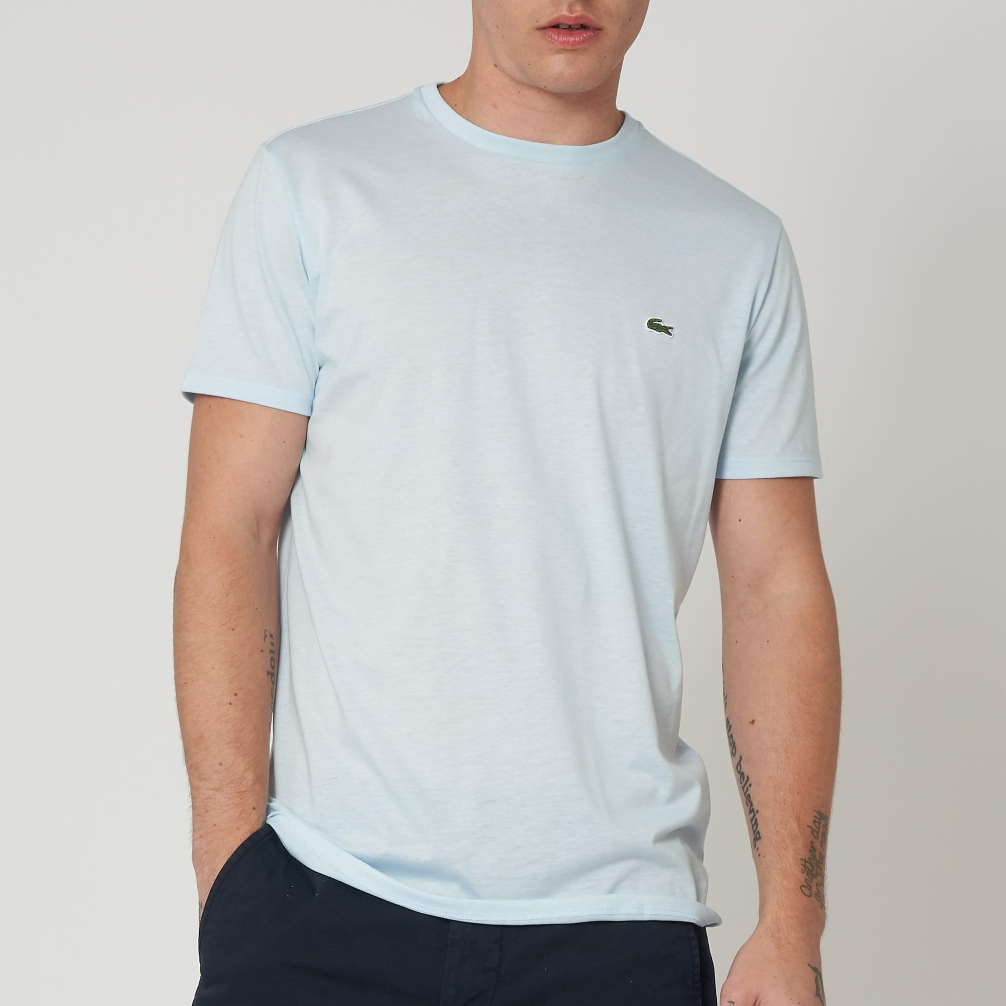 c68fec3357afc Lacoste (Baby Blue) Crew Neck Pima Cotton T-Shirt TH6709