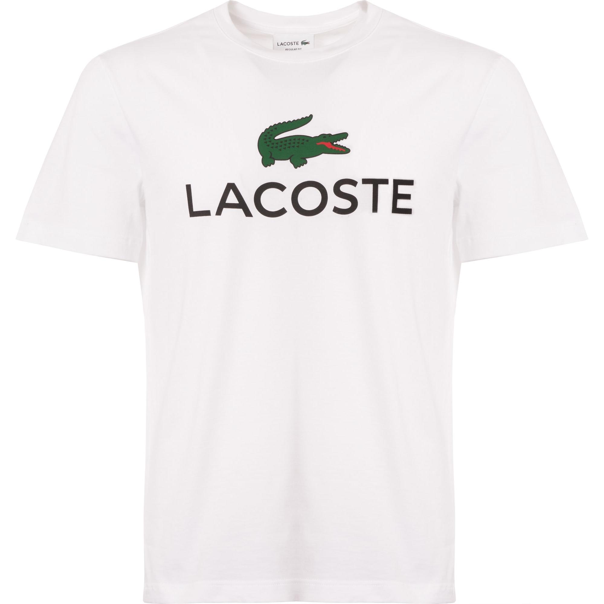1a026541b211a Lacoste Large Logo T-Shirt (White) at Dandy Fellow