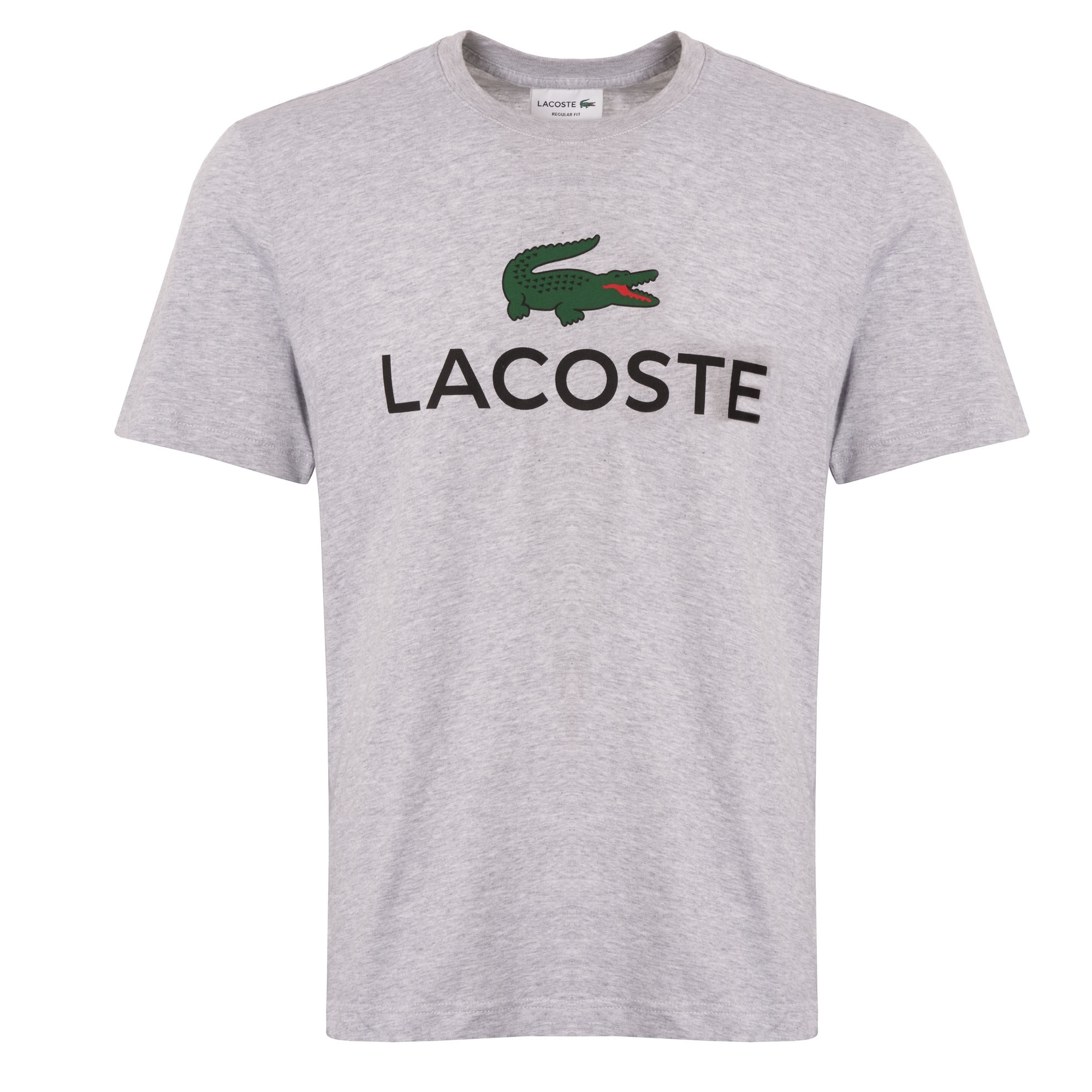 83b7f7d344025 Lacoste Large Logo T-Shirt (Silver Chine) at Dandy Fellow