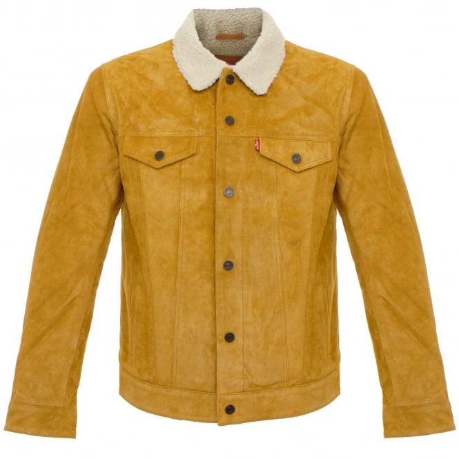 Levi's ® Levi's Trucker Sherpa Camel Suede Jacket 16365-0023