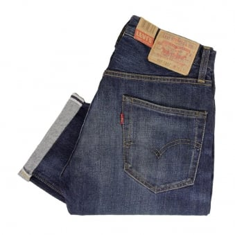 Levis Vintage 1967 505 Blue Selvage Denim Jeans 67505-0076