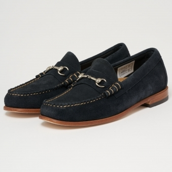 Lincoln Palm Springs Reverso Navy Suede Loafers