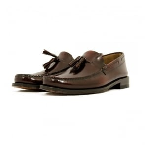 Loake Georgetown Tassel Loafer Moccasin Burgundy Shoe