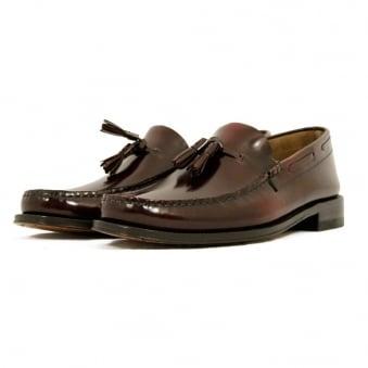 Loake Georgetown Tassel Loafer Moccasin Burgundy Shoe