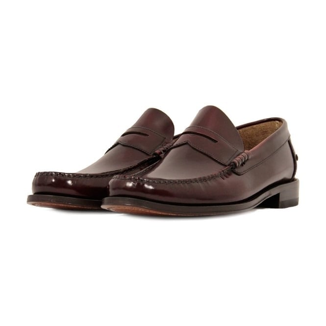 Loake Princeton Burgundy Loafer Shoe AD506319