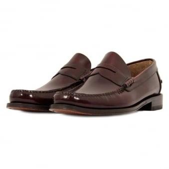 Loake Princeton Burgundy Loafer Shoe AD506319