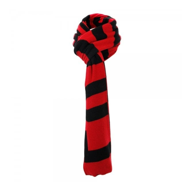 Moschino Love Moschino Lettering Knit Wool Red Scarf MSA97