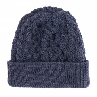 76643165e14 Made In England Cable Knit Beanie - Denim