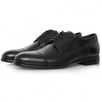 Hugo Boss Manhattan Derby Leather Black Shoe 50321647