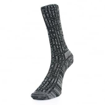 Merz B. Schwanen Socks Mbs .blk Mela Blk.2-thread