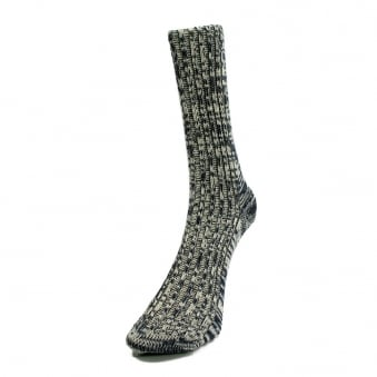 Merz B. Schwanen Two Thread Navy Socks 271