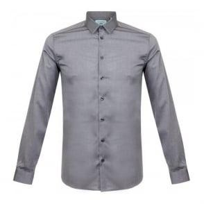 Minimum Hall Grey Melange LS Shirt 11433002