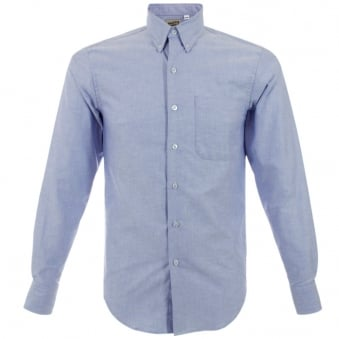 Naked and Famous Blue Oxford Shirt 19428