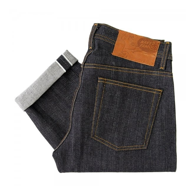 Naked and Famous Denim Naked and Famous Left Hand Twill Weird Guy Indigo Denim Jeans 012773