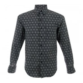 Naked and Famous Patterned Navy Shirt 12278