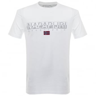 Napapijri Sapriol Bright White T-Shirt N0YCLW002