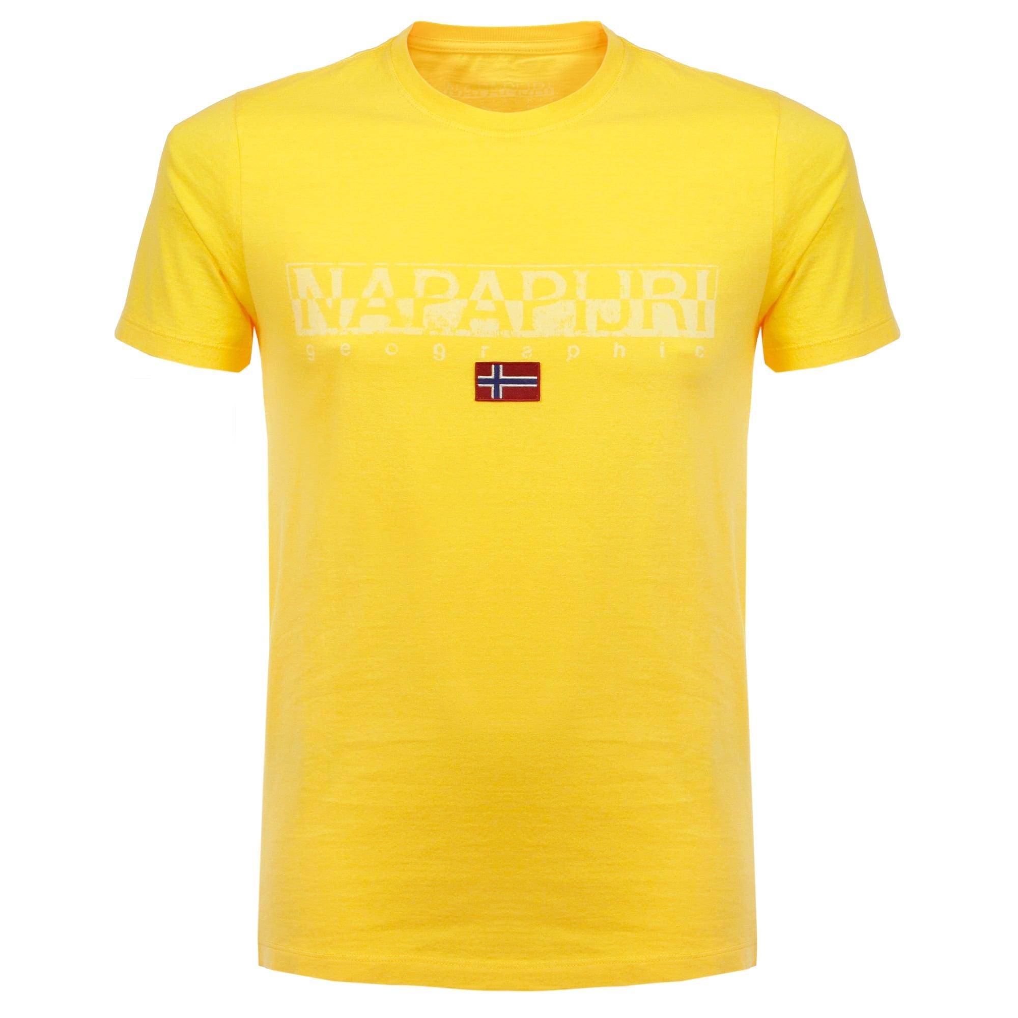 napapijri shop online sapriol summer yellow t shirt. Black Bedroom Furniture Sets. Home Design Ideas
