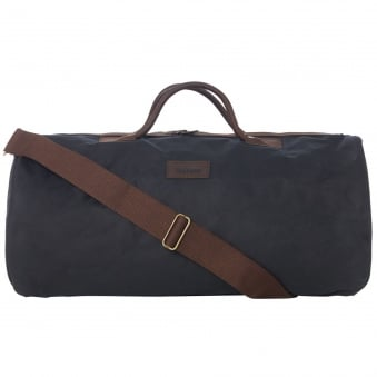 Navy Wax Holdall