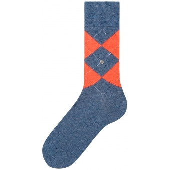Blue Neon King Argyle Socks