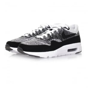 Nike Air Max 1 Flyknit White Black Shoe 843384 100