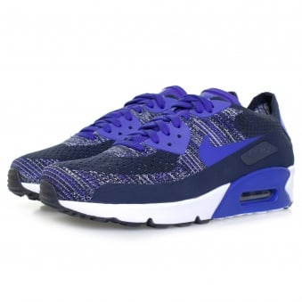 Nike Air Max 90 Ultra 2.0 Flyknit College Navy Shoe 875943 400