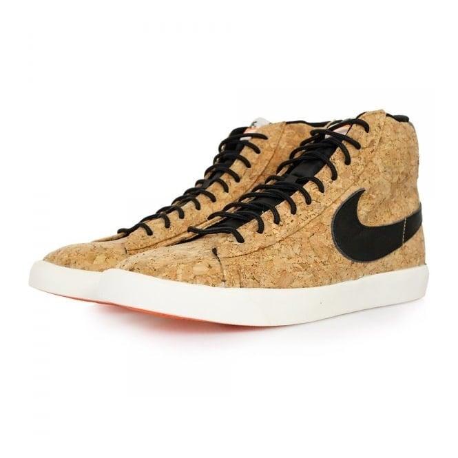 Nike Blazer Mid Cork Natural Black Shoes 749636 100
