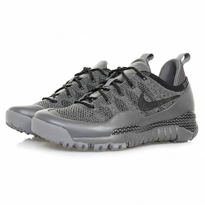 Nike Lupinek Flyknit Low Dark Grey Sail Shoe 882685 001