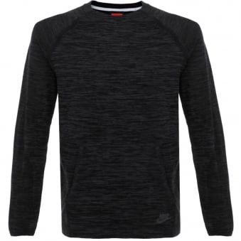 Nike Tech Knit Crew Blaclk LS T-Shirt 728673 010