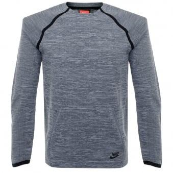 Nike Tech Knit Crew Grey LS T-Shirt 728673