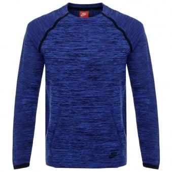 Nike Tech Knit Crew Navy LS T-Shirt 728673 439