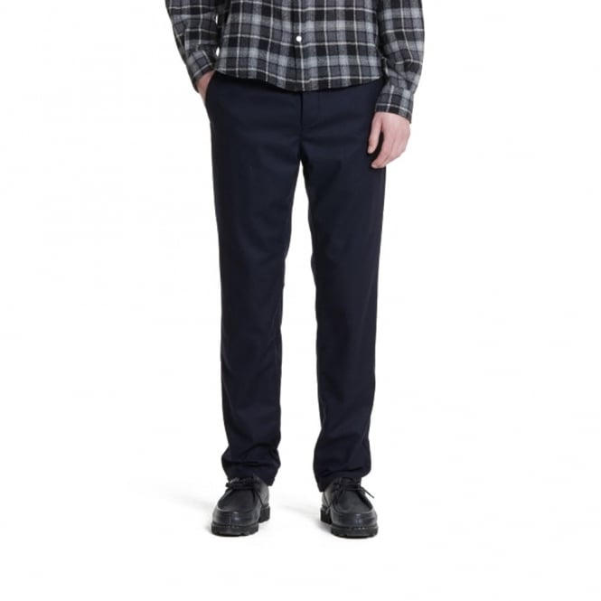 Norse Projects Thomas Slim Light Dark navy Wool Trousers N25-0204