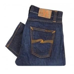 Nudie Jeans Steady Eddie Orange Crinkle Denim Jeans 111837